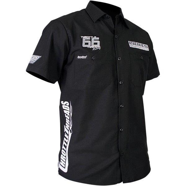 【USA在庫あり】 スロットルスレッズ Throttle Threads ショップシャツ Snow 黒 4XLサイズ 3050-2982 JP店