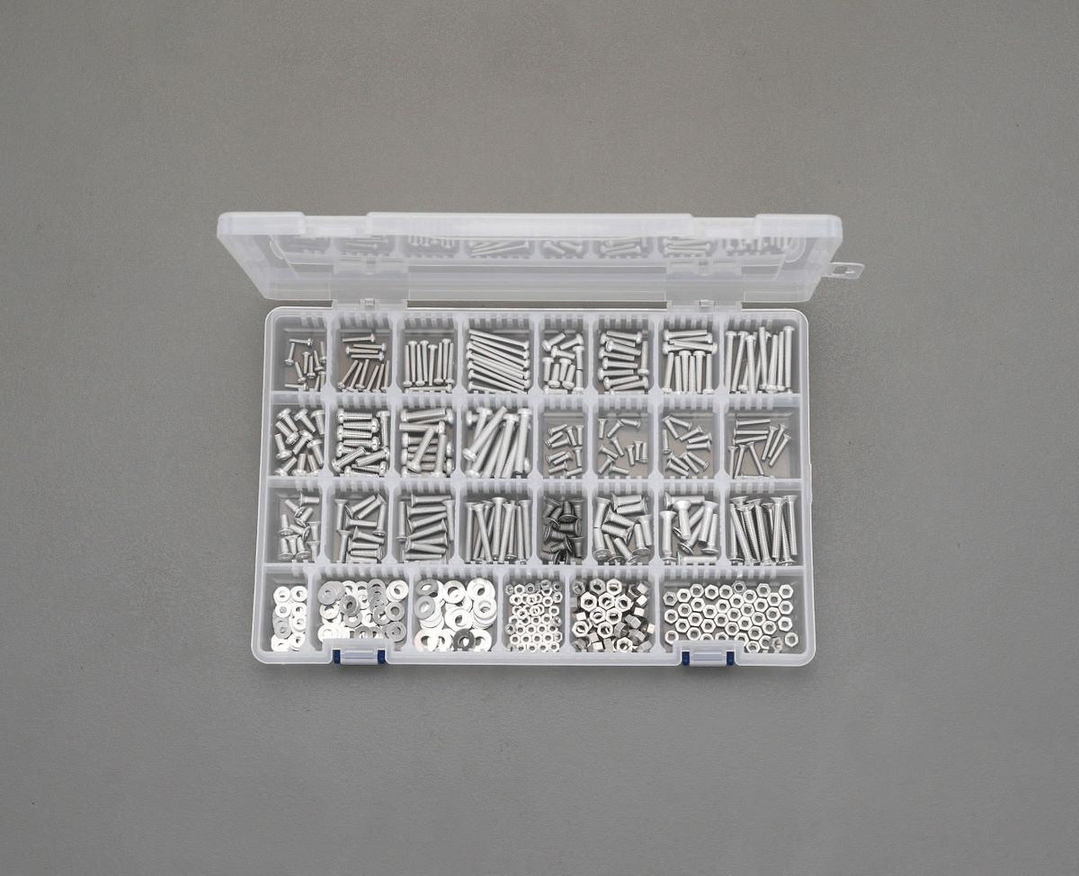 【メーカー在庫あり】 エスコ ESCO M3-M5 鍋・皿頭小ねじ・ワッシャーナットセット アルミ製 000012243674 JP店