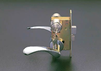 【メーカー在庫あり】 エスコ ESCO 30-43mm/51mm レバーハンドル玄関錠 000012065263 JP店
