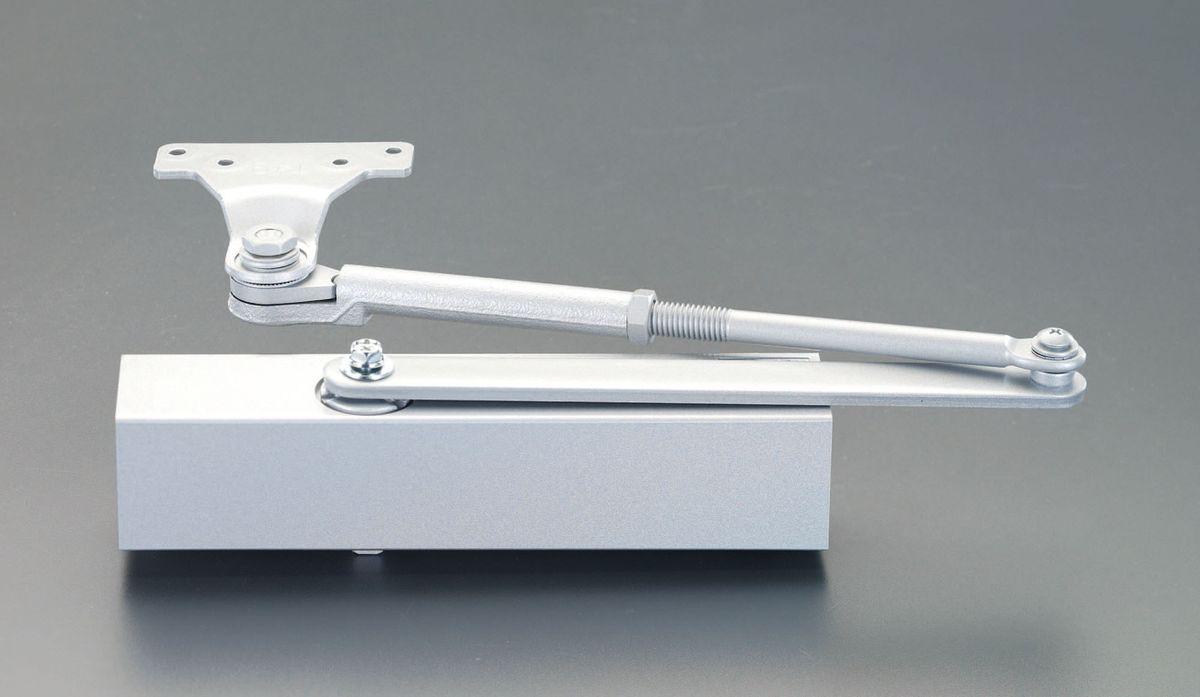 【メーカー在庫あり】 エスコ ESCO 85kg以下 ドアクローザー パラレル型ストップ無/シルバー 000012258149 JP店
