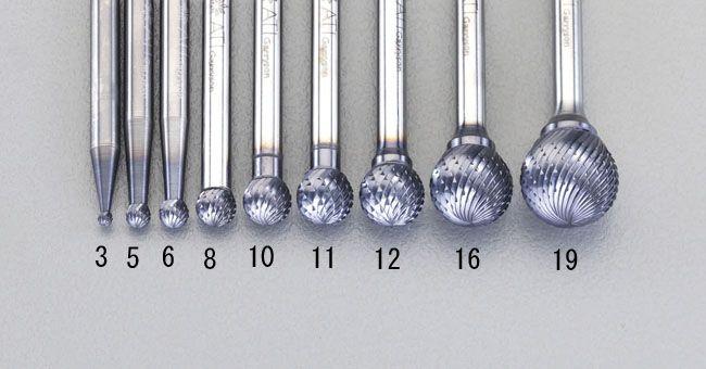 【メーカー在庫あり】 エスコ ESCO 19x17.1mm/6mm軸Coated 超硬バー 000012213100 JP店