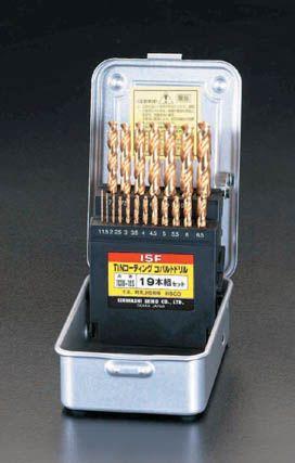 【メーカー在庫あり】 エスコ ESCO 1.0- 10mm ドリルセット 19本組/Tin Co-HSS 000012020995 JP店