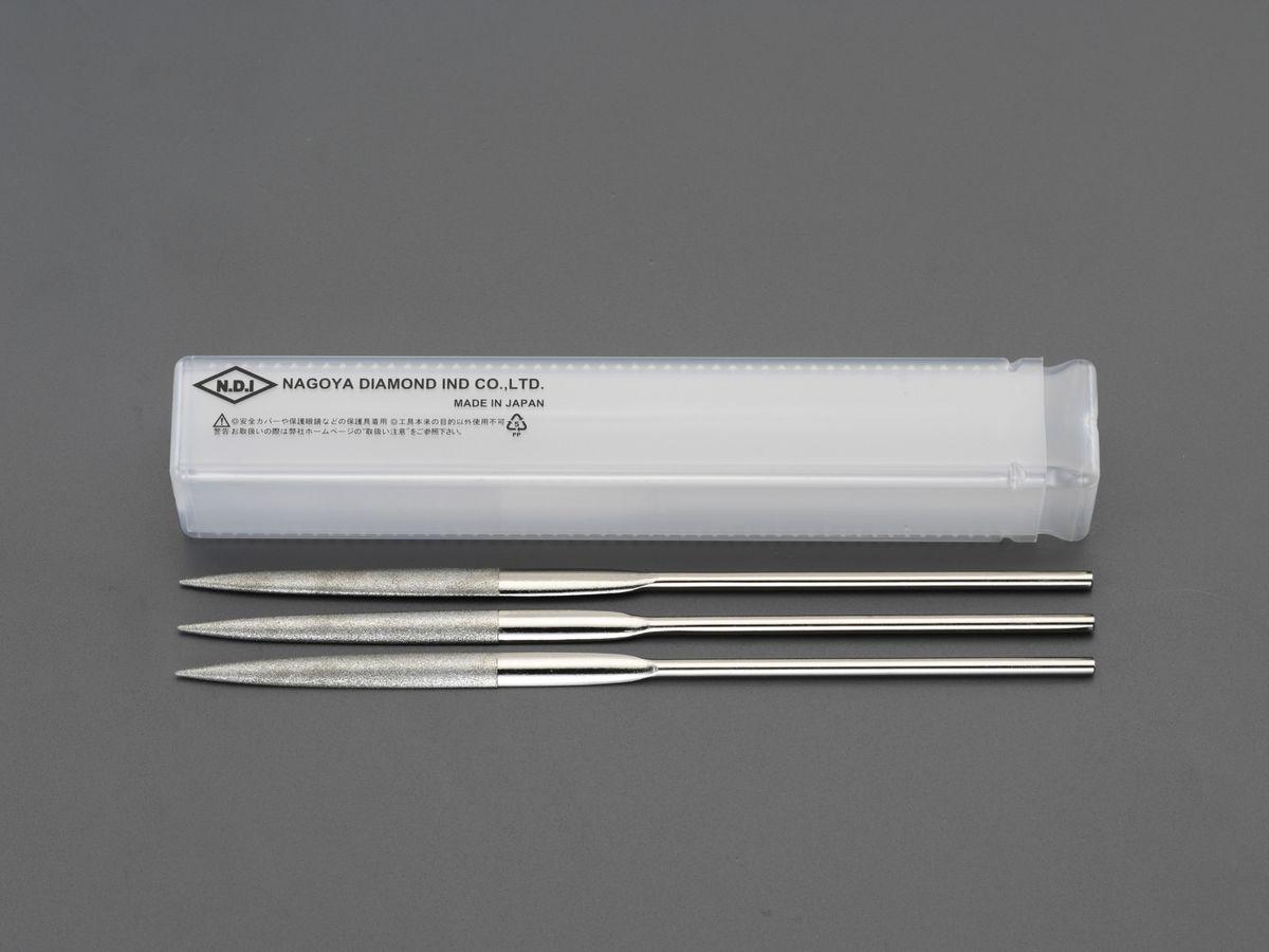 【メーカー在庫あり】 エスコ ESCO 200mm ダイヤモンドヤスリ 精密・半丸/3粒度・3本組 000012256508 JP店