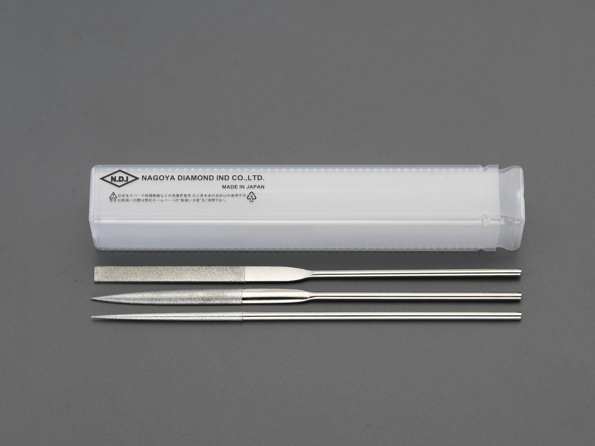 【メーカー在庫あり】 エスコ ESCO 200mm/#200 ダイヤモンドヤスリ 精密・3種・3本組 000012256528 JP店