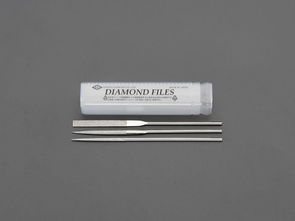 【メーカー在庫あり】 エスコ ESCO 215mm/#200 ダイヤモンドやすり 3種・3本組 000012256550 JP店