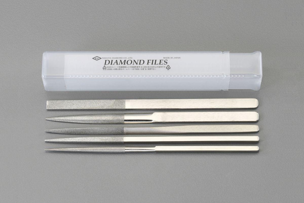 【メーカー在庫あり】 エスコ ESCO 215mm/#150 ダイヤモンドやすり 5種・5種組 000012214387 JP店