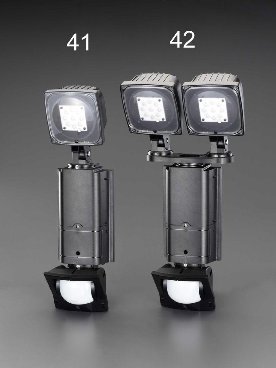 【メーカー在庫あり】 エスコ ESCO AC100V/31W LEDセンサーライト 調光タイプ/2灯 000012264655 JP店