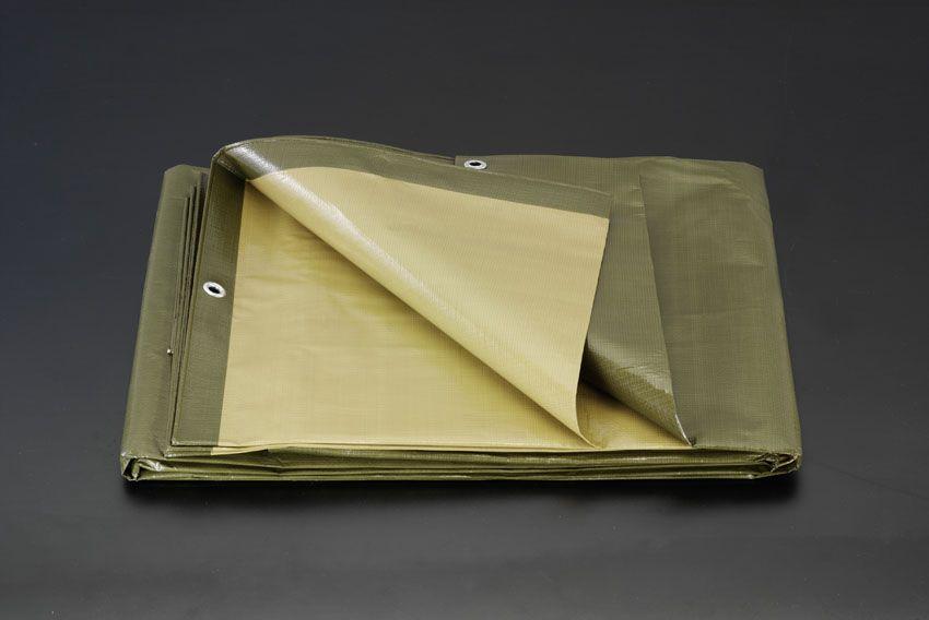 【メーカー在庫あり】 エスコ ESCO 3.6x5.4m 両面シート #4000/OD-茶 000012090248 JP店