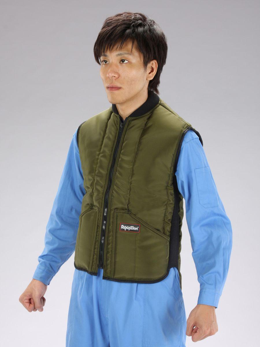 【メーカー在庫あり】 エスコ ESCO L 防寒ベスト Sage 000012040250 JP店