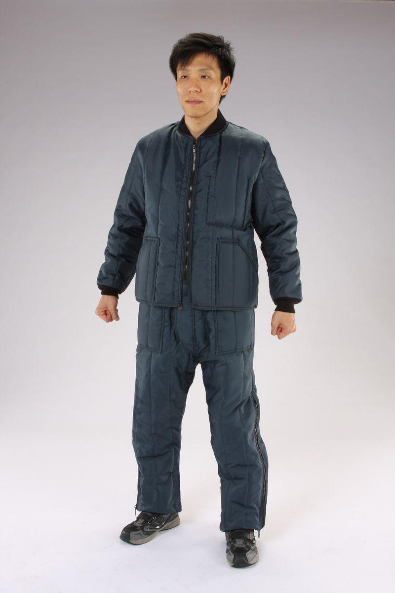 【メーカー在庫あり】 エスコ ESCO L 防寒服上下セット Navy 000012261682 JP店