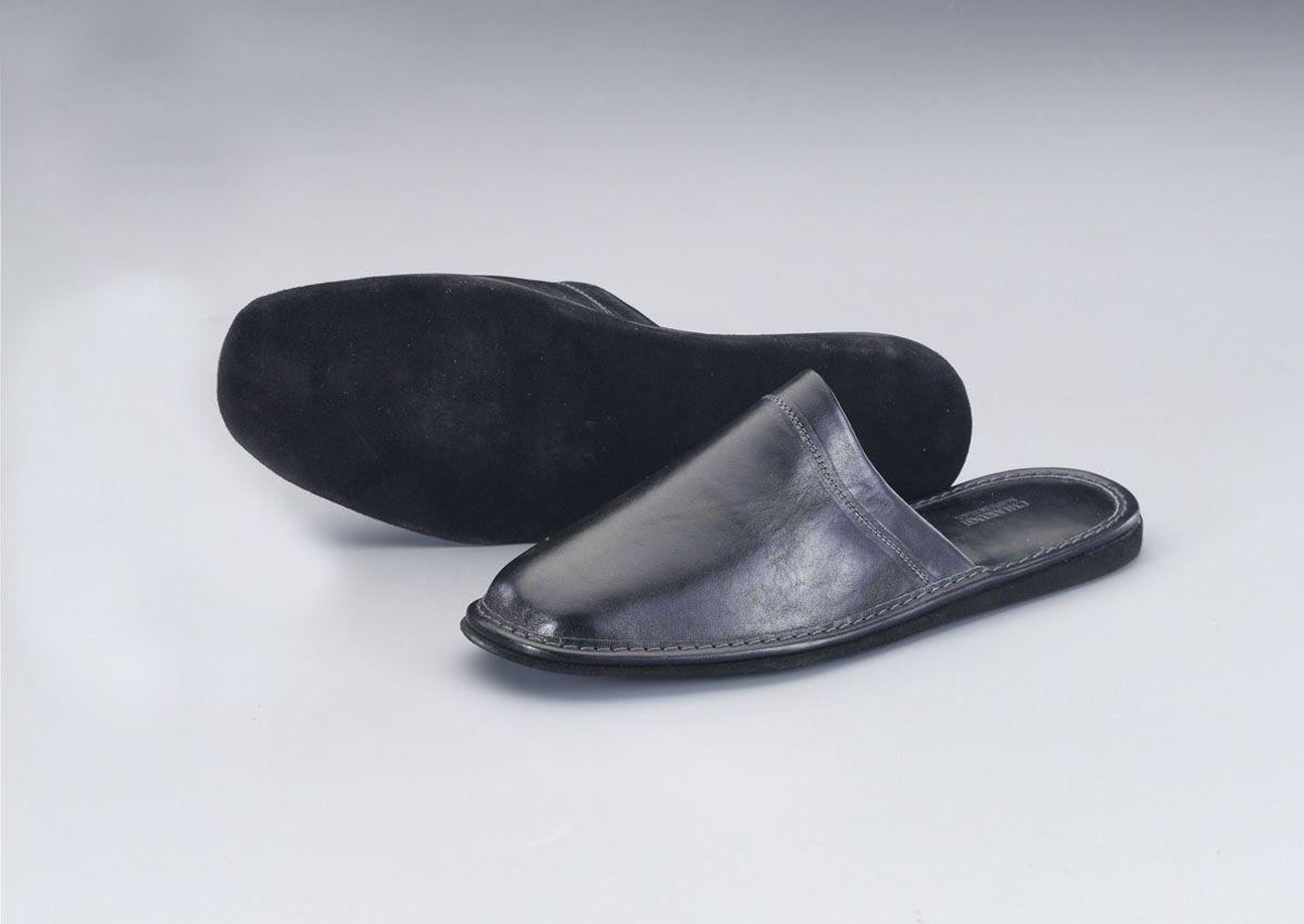 【メーカー在庫あり】 エスコ ESCO M スリッパ 本革製/ブラック 000012223521 JP店