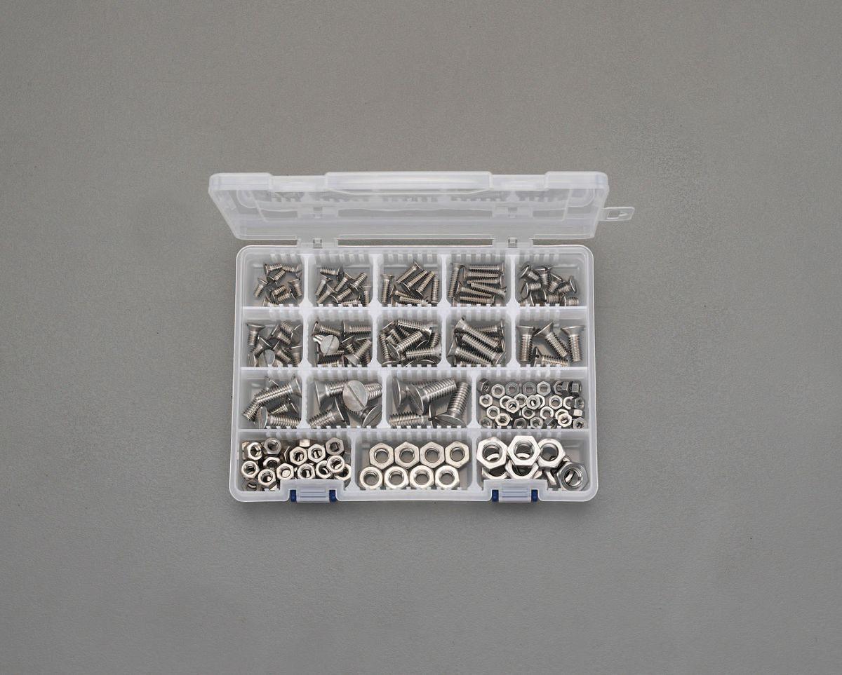 【メーカー在庫あり】 エスコ ESCO W3/16-3/8 皿小ねじ・ナットセット ステンレス製 000012243458 JP店