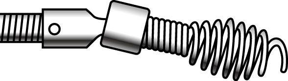 【メーカー在庫あり】 エスコ(ESCO) 8.0mmx15.2m ケーブル(ドロップヘッドオーガー付) 000012224048 JP