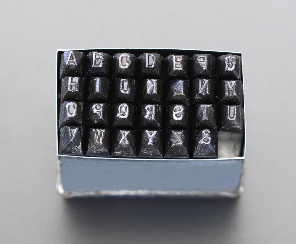 【メーカー在庫あり】 エスコ ESCO 8.0mm 英字刻印セット 000012073526 JP店