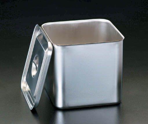 【メーカー在庫あり】 エスコ ESCO 165x165x235mm 深型BOX(ステンレス製) 000012011557 JP
