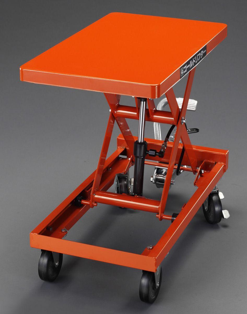 【メーカー在庫あり】 エスコ ESCO 350x 570mm/120kg テーブルリフト(ハンドル無) 000012261231 JP