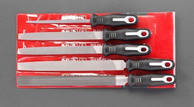 【メーカー在庫あり】 エスコ ESCO 150-250mm 鉄工やすり(5本組 3サイズ/粗 細) 000012085571 JP