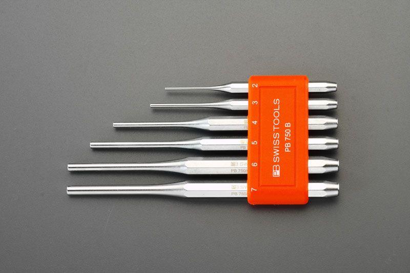 【メーカー在庫あり】 エスコ ESCO 2.0-7.0mm ピンポンチセット(6本組) 000012030640 JP店