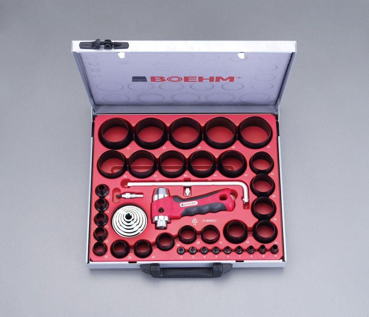 【メーカー在庫あり】 000012238212 エスコ JP店 ESCO 革ポンチキット(34個+420mmカッター付) 2-60mm