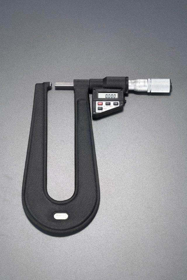 エスコ ESCO 0-25mm デジタルシートマイクロメーター (PC対応) 000012088222 JP店