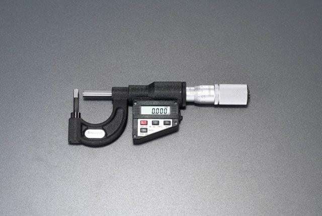 【メーカー在庫あり】 エスコ ESCO 0- 25mm デジタルパイプマイクロメーター (PC対応) 000012088224 JP店