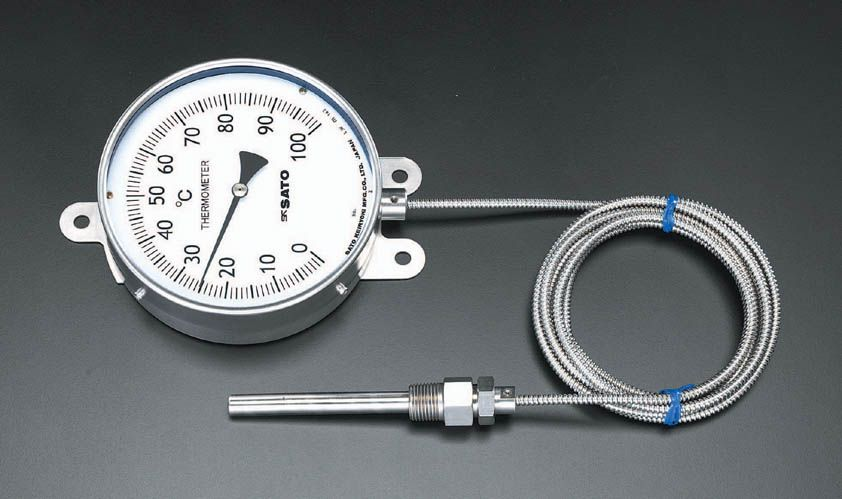 【メーカー在庫あり】 エスコ ESCO 0-100℃ 隔測温度計 154mm 000012068836 JP店