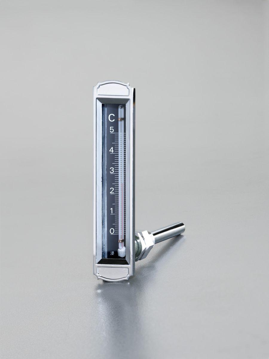 【メーカー在庫あり】 エスコ ESCO 0-100゜C/100mm 温度計 平型保護枠付(L型) 000012259512 JP店