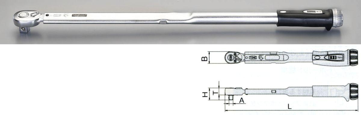 【メーカー在庫あり】 エスコ ESCO 40-200Nm 1/2sq ラチェット式 トルクレンチ 000012228056 JP店