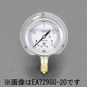 【メーカー在庫あり】 エスコ ESCO 75mm/0-3.0MPa つば付圧力計(グリセリン入) 000012080112 JP店