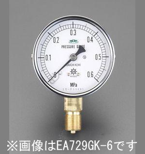 【メーカー在庫あり】 エスコ ESCO 75mm/0-1.0MPa 圧力計(耐脈動圧形) 000012080130 JP店