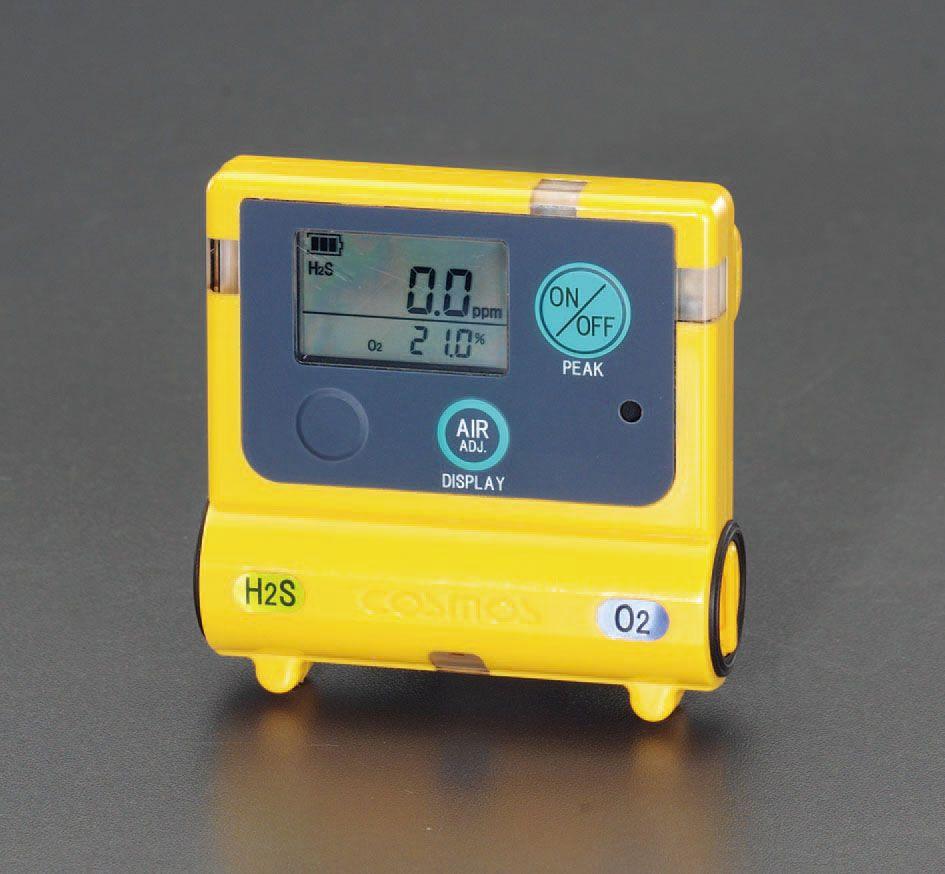 【メーカー在庫あり】 エスコ ESCO 酸素 硫化水素濃度計 000012080160 JP店