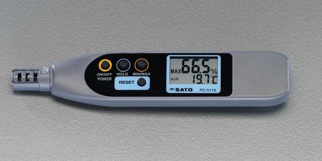 【メーカー在庫あり】 エスコ ESCO 温度 湿度計(ペン型) 000012203949 JP店