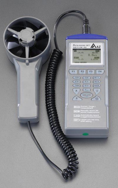 【メーカー在庫あり】 エスコ ESCO デジタル温度 湿度 風速計 000012080210 JP店