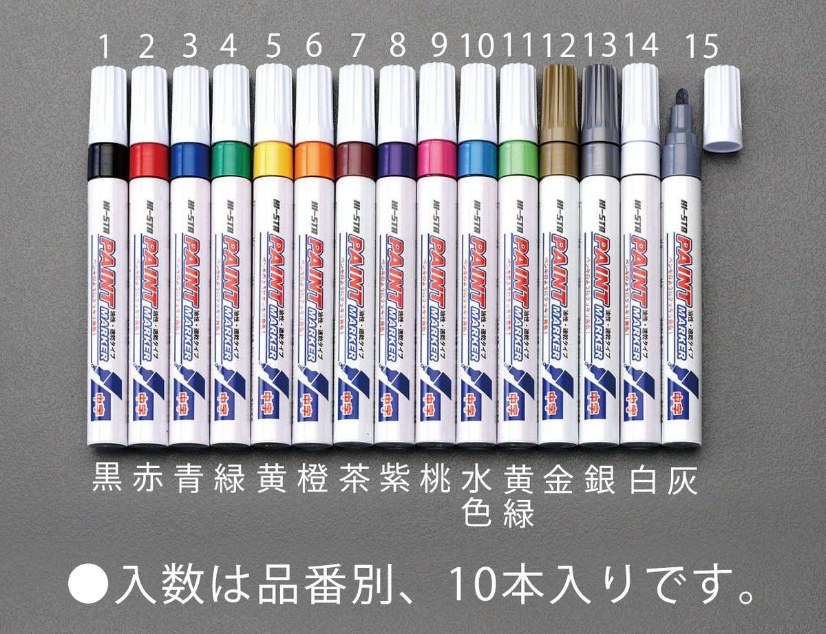 メーカー在庫あり エスコ ESCO WEB限定 桃 JP 000012212152 実物 10本 油性ペイントマーカー