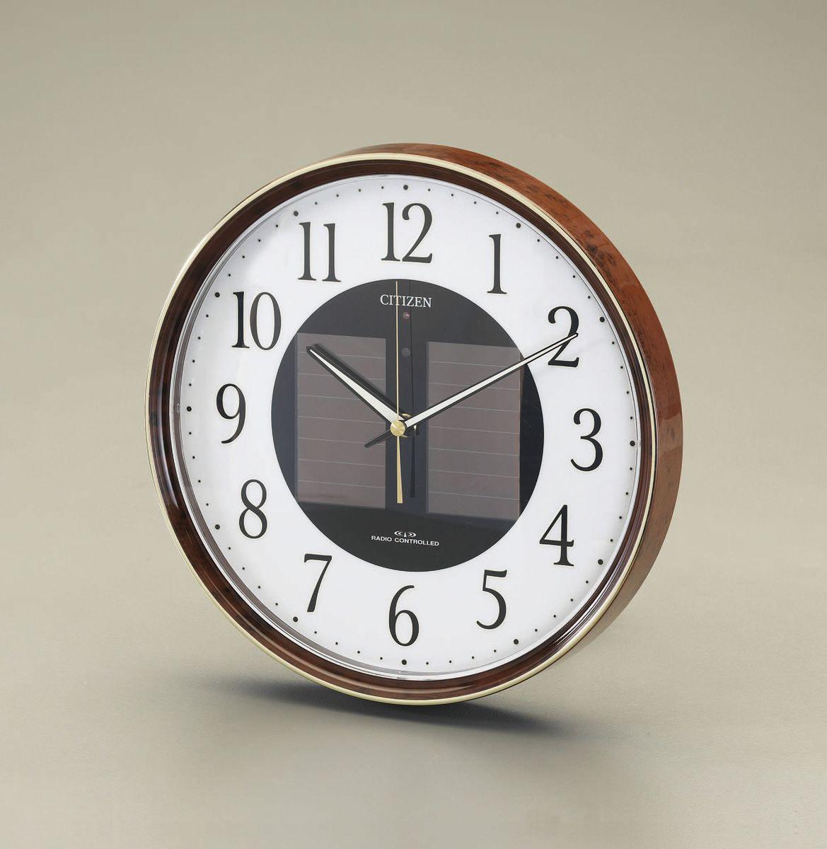 【メーカー在庫あり】 エスコ ESCO φ305mm 電波掛時計 ソーラー電源 000012228930 JP
