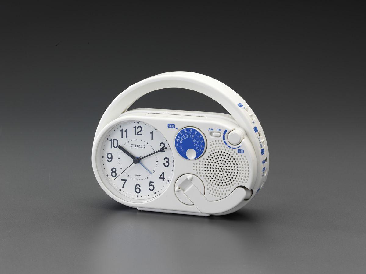 【メーカー在庫あり】 エスコ ESCO 195x151x 62mm 目覚まし時計(FM/AM ラジオ付) 000012260811 JP