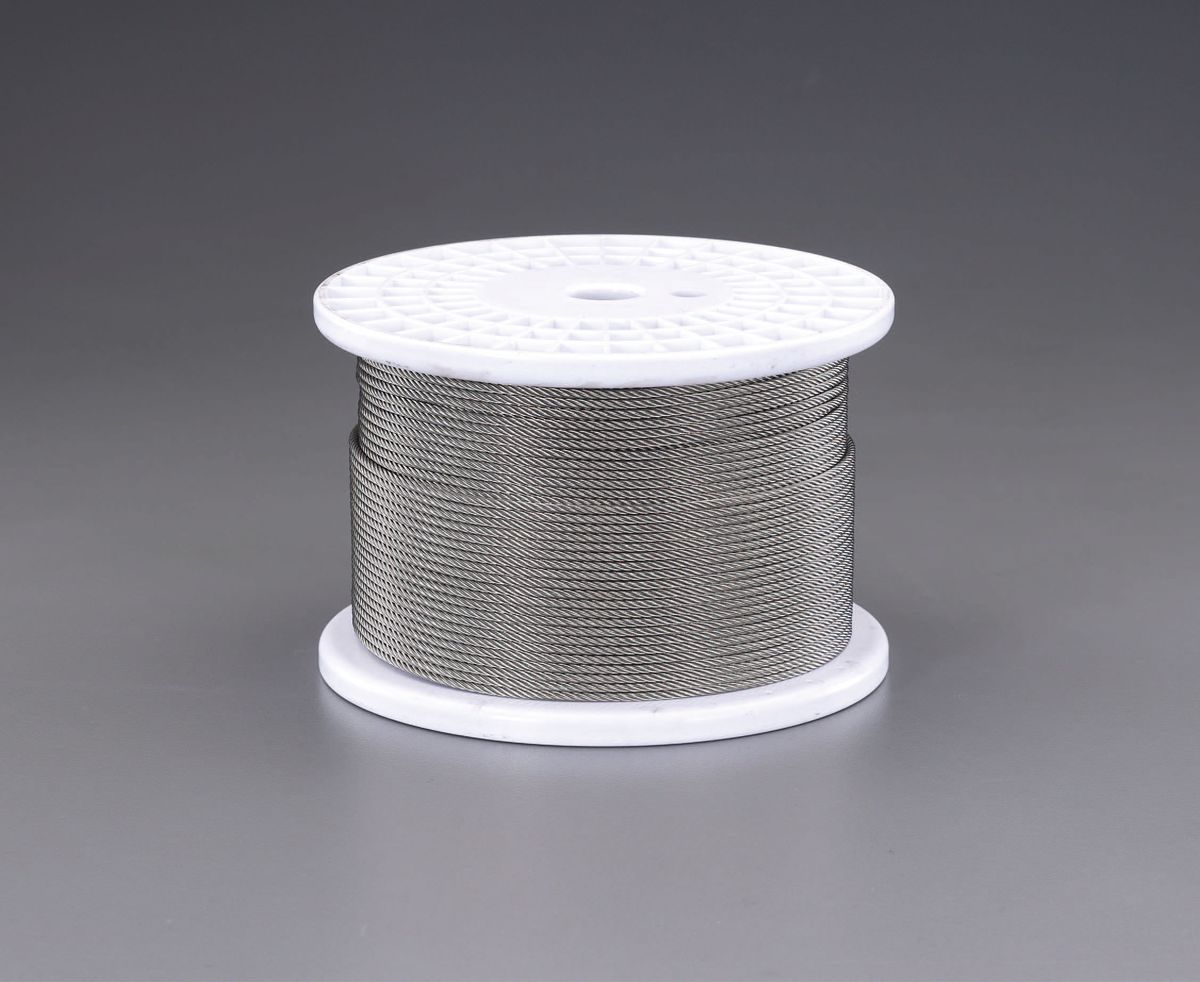 【メーカー在庫あり】 エスコ ESCO 2.0mmx200m/7x19 ワイヤーロープ(ステンレス製) 000012239031 JP店
