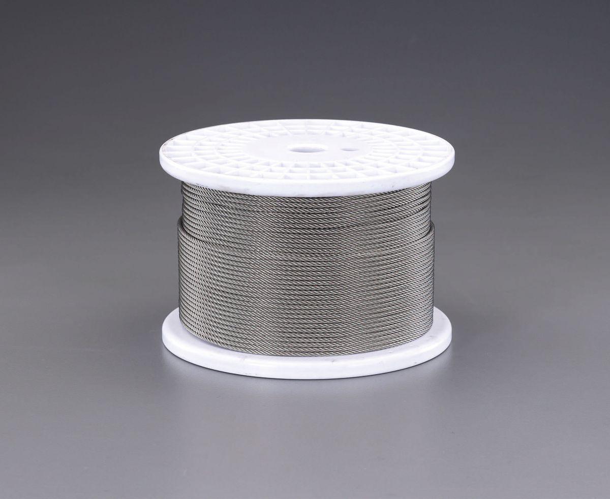 【メーカー在庫あり】 エスコ ESCO 5.0mmx200m/7x19 ワイヤーロープ(ステンレス製) 000012239055 JP店