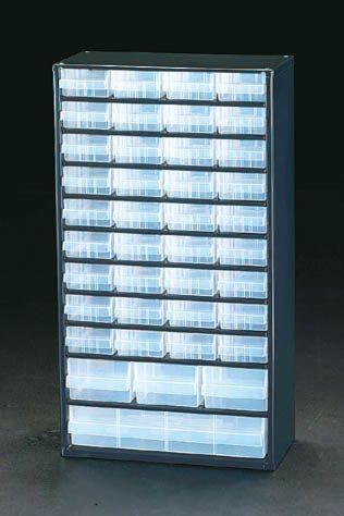 【メーカー在庫あり】 エスコ ESCO 307x150x555mm/11段40個 パーツキャビネツト 000012004982 JP店