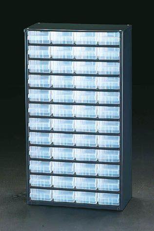 【メーカー在庫あり】 エスコ ESCO 307x150x555mm/4列 12段 パーツキャビネツト 000012004983 JP店