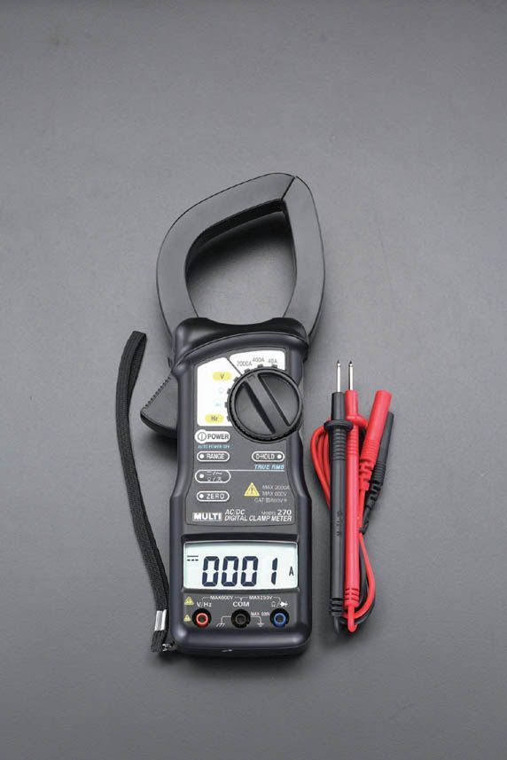 【メーカー在庫あり】 エスコ ESCO デジタルクランプメーター(実効値) 000012053391 JP店
