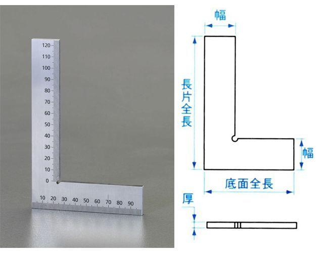 【メーカー在庫あり】 エスコ ESCO 150x100mm 平形スクエアー(目盛付) 000012227816 JP店