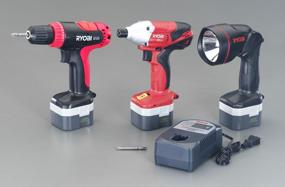 【メーカー在庫あり】 エスコ ESCO DC12V 電動工具セット 充電式 000012246153 JP店