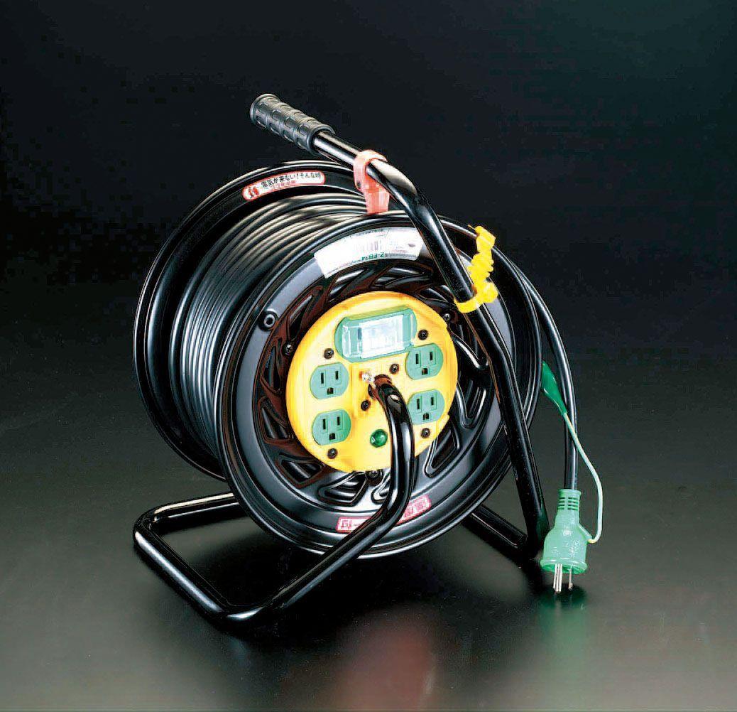 【メーカー在庫あり】 エスコ ESCO AC125V/30mコンセント固定リール 漏電遮断器付 000012020037 JP店