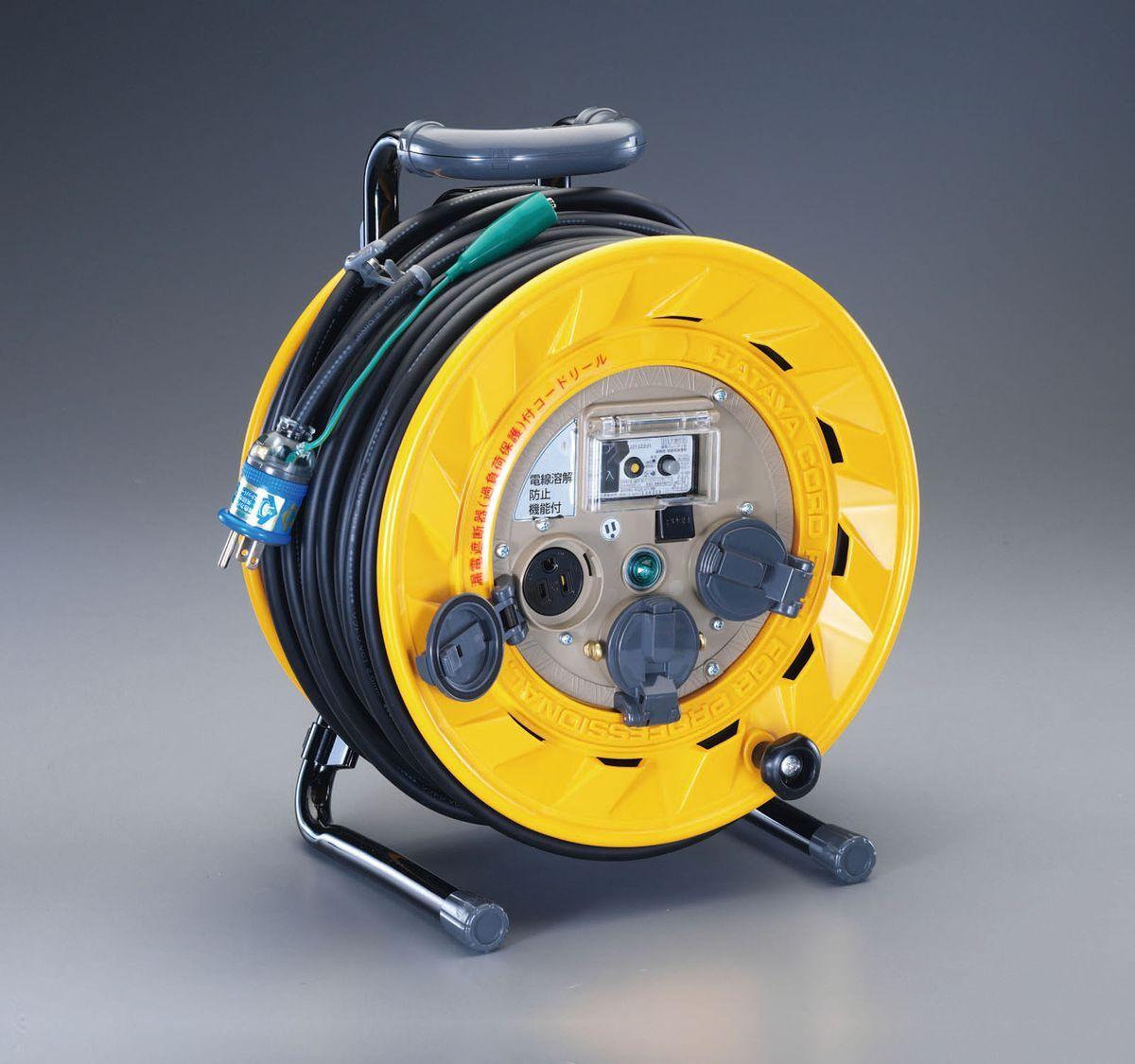 エスコ ESCO AC100V/15A/30m コードリール 漏電遮断器付 000012059173 JP店