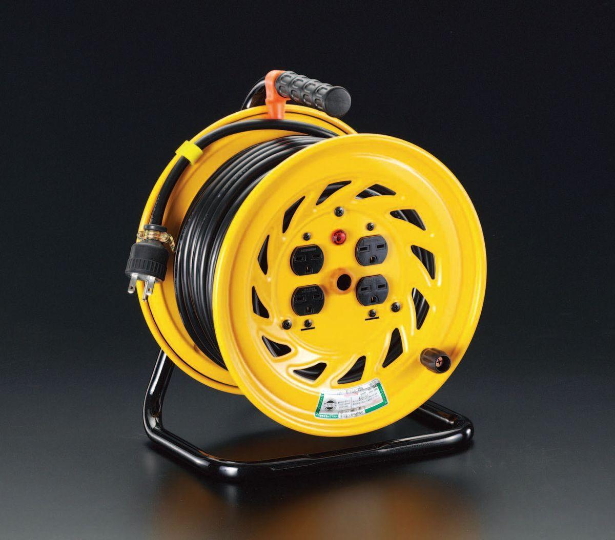 【メーカー在庫あり】 エスコ ESCO 単相AC200V/15A/30m 電工ドラム 000012037584 JP店