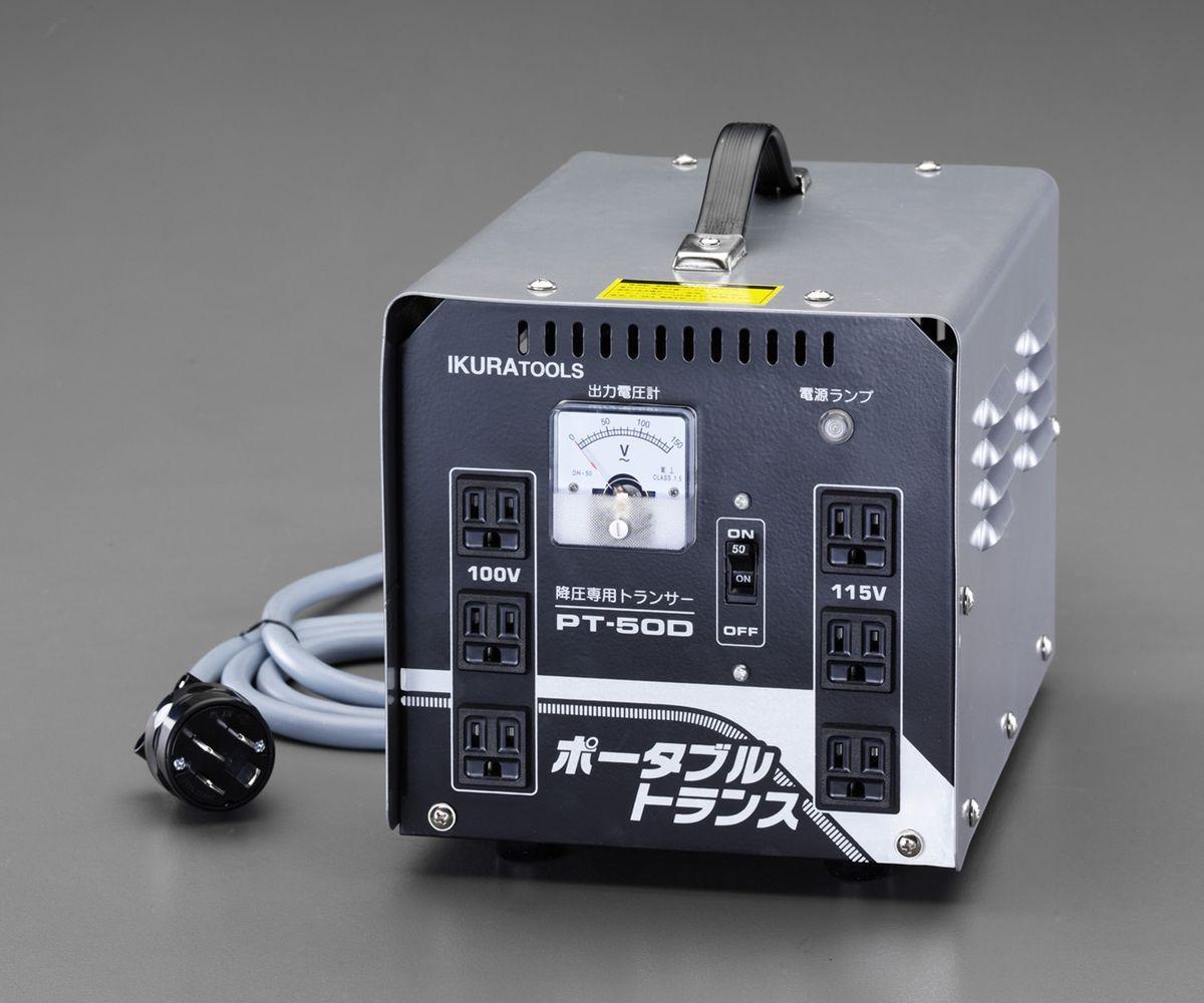 【メーカー在庫あり】 エスコ ESCO AC200V→AC100V,115V/5kvA 降圧トランス 000012252708 JP店