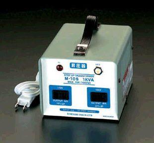 【メーカー在庫あり】 エスコ ESCO AC100V→AC115V・125V/1.0KVA 昇圧トランス 000012020111 JP店
