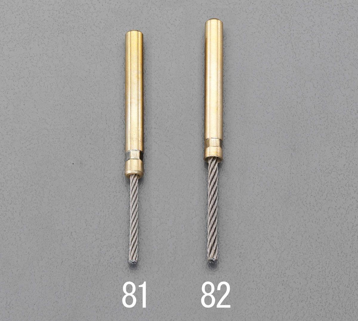 【メーカー在庫あり】 エスコ ESCO 3.0mm/6mm 軸付ステンレスロープブラシ 000012240982 JP店