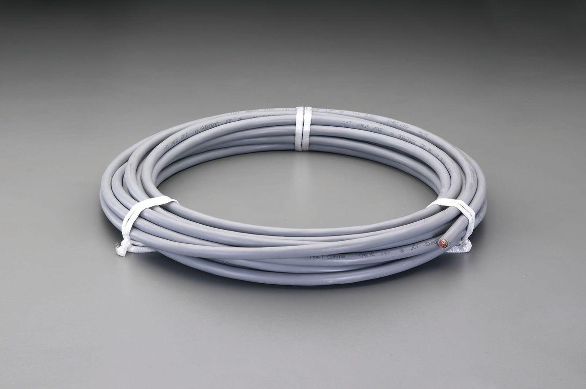 【メーカー在庫あり】 エスコ ESCO 37Ax20m 電力ケーブル 600V VVR/3芯 000012242187 JP店